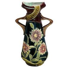 Majolica Art Nouveau Continental Vase