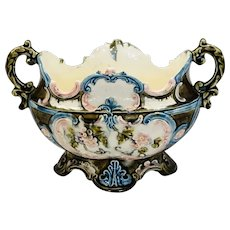 Majolica Art Nouveau Continental Planter/Fruit Bowl