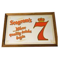 "Seagram's 7 ""Where Quality Drinks Begins!"" Advertising Mirror"