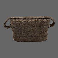 Rare Bronze Beaded Oval Box Purse