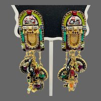 Vintage Lunch at the Ritz Music Rock Jukebox Earrings