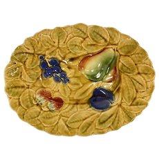 Majolica French Sarreguemines Platter
