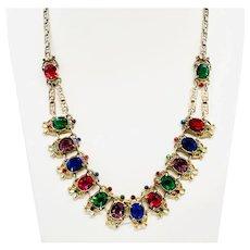 1920s Art Deco Prong Set Paste Necklace
