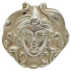 Sterling Silver 1900 circa Art Nouveau Brooch
