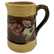 Majolica English Floral Small Pitcher