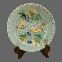 Majolica Zell Bird & Grape Plate