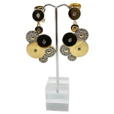 Italian Runway Disc Jewel Earrings