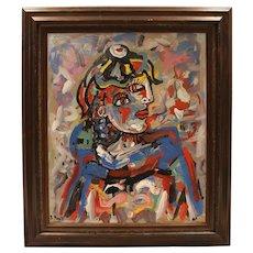 """Rocco Monticolo """"Two-Faced"""" Oil on Canvas"""