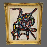 "Rocco Monticolo ""Spiderman"" Mid-Century Modern Abstract"