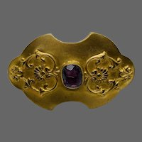 19th Century Gorgeous Brass Brooch
