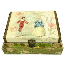 19th Century Lithograph Jewelry Box