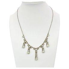Art Deco Sterling Fringe Design Necklace