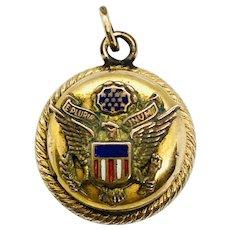 WWII Era USA Military Locket Charm