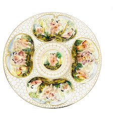 Italian Capodimonte Porcelain Charger Plate #1