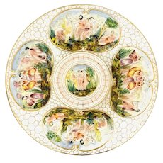 Italian Capodimonte Porcelain Charger Plate #2