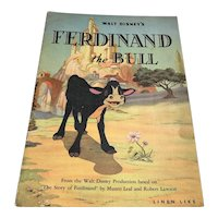 1938 Whitman - Walt Disney Enterprises Children's Book - Ferdinand The Bull
