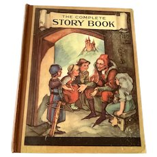 1937 Saalfield Publishing Co. - The Complete Story Book - Frances Brundage - Fairy Tales