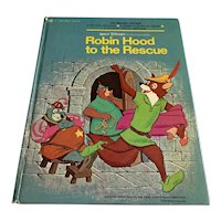 1973 Golden Book - Walt Disney's Robin Hood To The Rescue