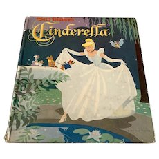 1950 Whitman Cozy Corner Book - Walt Disney's Cinderella