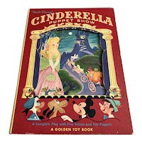 1949 Golden Toy Book - Walt Disney's Cinderella Puppet Show