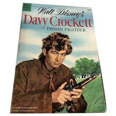 1955 Dell .10 Cent Comic Book - Walt Disney's Davy Crockett  - Indian Fighter