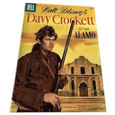 1955 Dell .10 Cent Comic Book - Walt Disney's  Davy Crockett  - At The Alamo