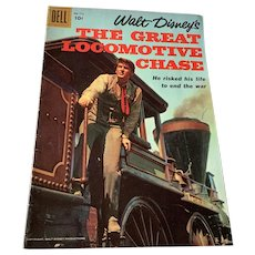 1956 Dell .10 Cent Comic Book - Walt Disney's The Great Locomotive Chase