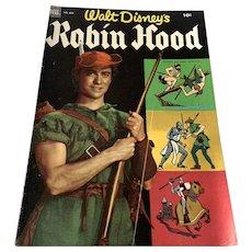 1952 Dell .10 Cent Comic Book - Walt Disney's Robin Hood