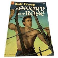 1953 Dell .10 Cent Comic Book - Walt Disney's  The Sword & The Rose