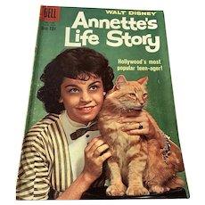1955 Dell .10 Cent Comic Book - Walt Disney's  Annette's Life Story