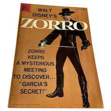 1958 Dell .10 Cent Comic Book - Walt Disney's Zorro