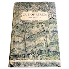 1938 First Edition Book - Out Of Africa - Isak Dinesen - DJ
