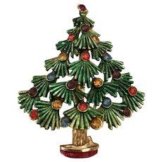 Vintage Torino Costume Jewelry Christmas Tree Pin