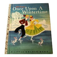 1950 Little Golden Book - Walt Disney's Once Upon A Wintertime - 1st
