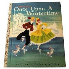 1950 Little Golden Book - Walt Disney's Once Upon A Wintertime - 1st