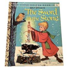 1963 Little Golden Book - Walt Disney's Sword & The Stone - A