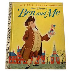 "Vintage 1954 Little Golden Book - Walt Disney's  Ben & Me  "" A """