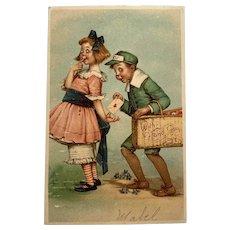 1907 Raphael Tuck Valentine Postcard - Frances Brundage - Cupid & Girl