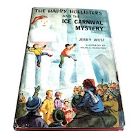 1958 First Edition Children 's Book - Happy Hollister's Ice Carnival Mystery