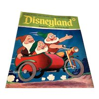 1974 Disneyland Magazine - Dwarfs Riding Motorcycle Cover # 91