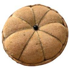 Vintage Sweet Grass Basket Pin Cushion