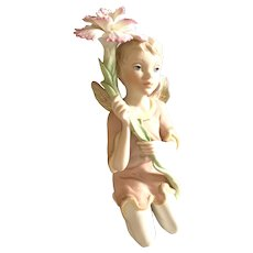 1989 Vintage Cybis Porcelain Figurine - Carnation Boy With Wings