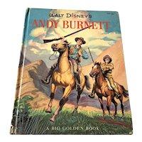 1958 Walt Disney's Andy Burnett Big Golden Children's Book