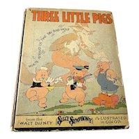1933 Walt Disney Enterprises Children's Book - The Three Little Pigs