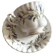 Royal Albert Bone China Tea Cup & Saucer - Brigadoon - Thistle