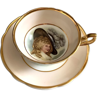 Regency Bone China England Tea Cup & Saucer - Portrait