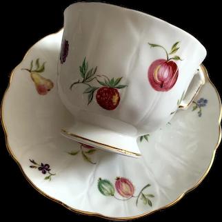 Aynsley Bone China Tea Cup & Saucer - Florida Pattern