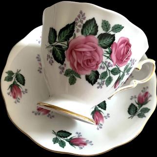 Royal Standard Bone China Cup & Saucer - Rosebuds