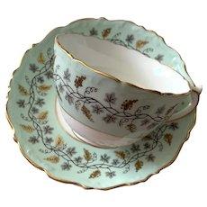 Coalport Bone China Tea Cup & Saucer - Minerva Pattern