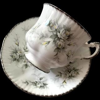 Paragon Bone China Tea Cup & Saucer - First Love Pattern